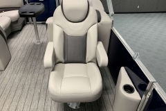 High Back Co-Captain's Chair of the 2022 Sylvan L3 LZ Pontoon Boat