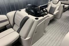 Helm Storage of the 2022 Sylvan L3 LZ Pontoon Boat