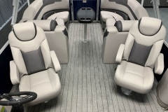 Interior Rear Layout of the 2021 Sylvan L3 LZ Pontoon Boat