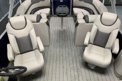 Interior Rear Layout of the 2022 Sylvan L3 LZ Pontoon Boat