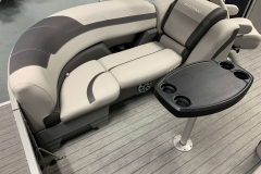 Soft Touch Vinyl Furniture of the 2021 Sylvan L3 LZ Pontoon Boat