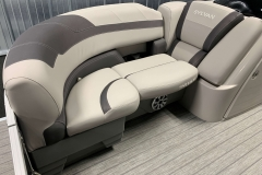 Interior Seating of the 2022 Sylvan L3 LZ Pontoon Boat