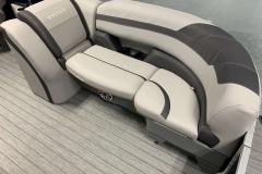Grey Interior Accents of the 2022 Sylvan L3 LZ Pontoon Boat