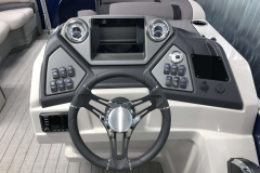 Bluetooth JL Audio Stereo of the 2021 Sylvan L3 LZ Tritoon Boat