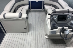 Port Side Changing Room of the 2021 Sylvan L3 LZ Tritoon Boat