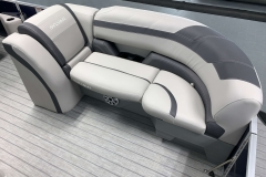 Soft Touch Vinyl Furniture of the 2021 Sylvan L3 LZ Tritoon Boat