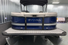 Bow Swim Deck of the 2021 Sylvan L3 LZ Tritoon Boat