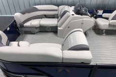 Interior Bow Layout of the 2021 Sylvan L3 LZ Tritoon Boat