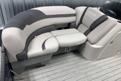 Soft Touch Vinyl Flooring of the 2021 Sylvan L3 LZ Tritoon Boat