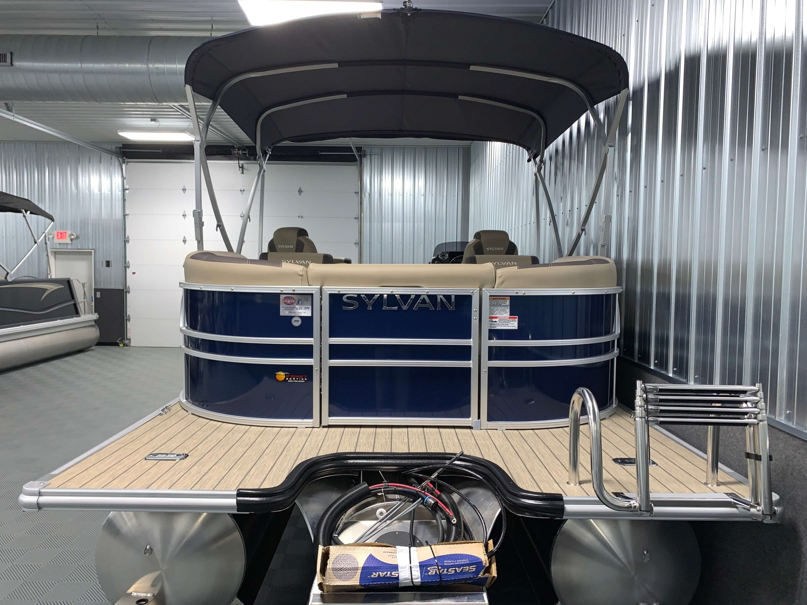 Rear Swim Deck of the 2021 Sylvan L3 LZ Tritoon Boat