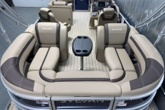 Wraparound Rear Seating of the 2021 Sylvan L3 LZ Tritoon Boat