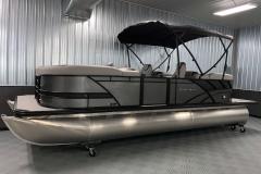 10' Bimini Top of the 2021 Sylvan L3 LZ Tritoon Boat