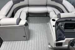 Portable Gate Seat of the 2021 Sylvan L3 LZ Tritoon Boat