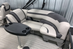 Removable Snack Table of the 2021 Sylvan L3 LZ Tritoon Boat