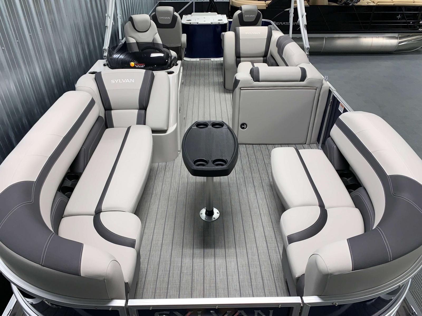 Interior Layout of the 2022 Sylvan L3 Party Fish Pontoon Boat