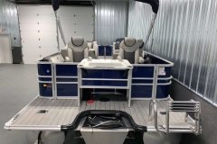 Extended Rear Swim Deck of the 2022 Sylvan L3 Party Fish Pontoon Boat