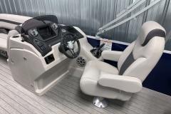 Fiberglass Helm of the 2022 Sylvan L3 Party Fish Pontoon Boat