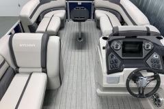 Interior Bow Layout of the 2022 Sylvan L3 Party Fish Pontoon Boat