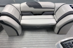 Soft Touch Vinyl Furniture of the 2022 Sylvan L3 Party Fish Pontoon Boat