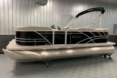 Black Exterior of a 2022 Sylvan 8520 Cruise Pontoon