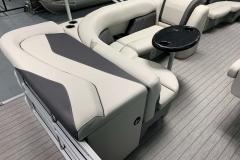 Interior Seating of a 2022 Sylvan 8520 Cruise Pontoon