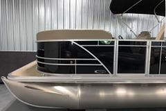 Black Exterior Color of a 2021 Sylvan Mirage 8520 LZ Tritoon Boat