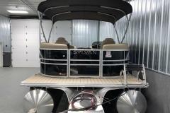 Rear Swim Deck of a 2021 Sylvan Mirage 8520 LZ Tritoon Boat