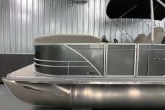 Carbon Exterior Color of a 2021 Sylvan Mirage 8520 LZ Tritoon Boat