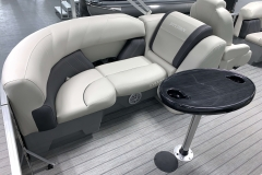 Gray Interior Accents of a 2021 Sylvan Mirage 8520 LZ Tritoon Boat