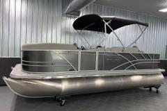 Easy Fold Bimini Top of a 2021 Sylvan Mirage 8520 Party Fish Pontoon Boat