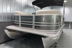 Bow Swim Deck of a 2021 Sylvan Mirage 8520 Party Fish Pontoon Boat