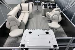 Interior Layout of a 2021 Sylvan Mirage 8520 Party Fish Pontoon Boat