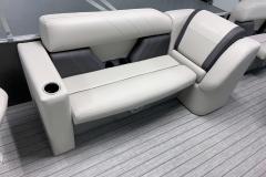 Interior Seating of a 2021 Sylvan Mirage 8520 Party Fish Pontoon Boat
