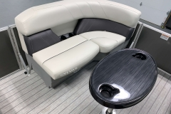 Removable Snack Table of a 2021 Sylvan Mirage 8520 Party Fish Pontoon Boat