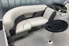 Built-In Cupholders of a 2021 Sylvan Mirage 8520 Party Fish Pontoon Boat