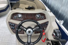 LE Series Helm of the 2021 Berkshire 20CL LE Pontoon Boat