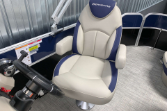 High Back Captains Chair of the 2021 Berkshire 20CL LE Pontoon Boat