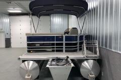 Aft Boarding Ladder of the 2021 Berkshire 20CL LE Pontoon Boat