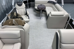 Interior Rear Layout of the 2021 Berkshire 22CL LE Pontoon Boat