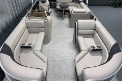 Interior Layout of the 2021 Berkshire 22CL LE Pontoon Boat