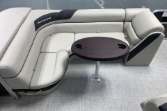 L-Shaped Seating Configuration of the 2021 Berkshire 22CL LE Pontoon Boat