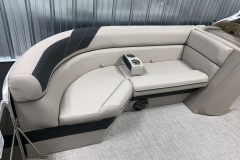 Black Accented Furniture on the 2021 Berkshire 22CL LE Pontoon Boat