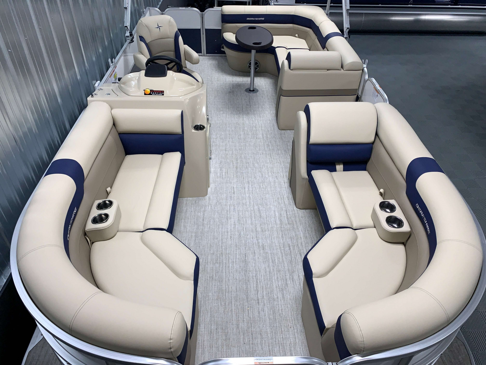 Interior Layout of the 2021 Berkshire 22CL2 CTS Pontoon Boat