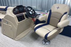 Helm of the 2021 Berkshire 22CL2 CTS Pontoon Boat