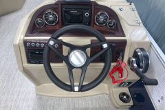 CTS Series Helm of the 2021 Berkshire 22CL2 CTS Pontoon Boat