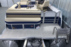 Aft Seating of the 2021 Berkshire 22CL2 CTS Pontoon Boat