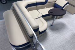 Removable Snack Table of the 2021 Berkshire 22CL2 CTS Pontoon Boat