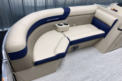 Navy Accented Interior on the 2021 Berkshire 22CL2 CTS Pontoon Boat