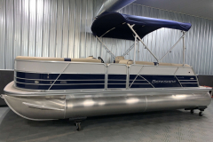 Easy Fold 10' Bimini Top of the 2021 Berkshire 22CL2 CTS Pontoon Boat