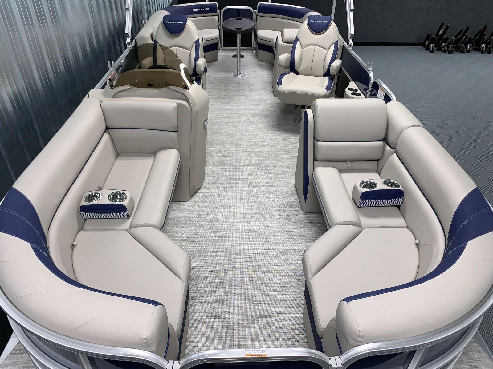 Woven Vinyl Flooring on the 2021 Berkshire 24RFX LE Pontoon Boat